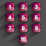 Insieme dei bottoni quadrati Immagini Stock Libere da Diritti