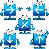 Insieme dei bottoni quadrati della freccia del fumetto Fotografie Stock Libere da Diritti