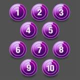 Insieme dei bottoni rotondi Fotografia Stock Libera da Diritti