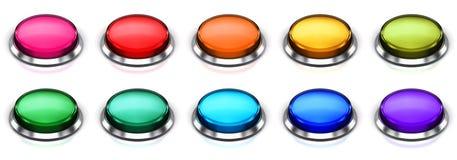 Insieme dei bottoni rotondi di colore Immagine Stock Libera da Diritti