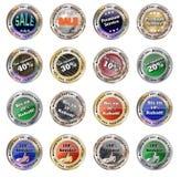 Insieme dei bottoni - vettore editabile completo del modello Immagine Stock Libera da Diritti
