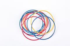 Insieme dei braccialetti colorati, vista superiore Immagine Stock Libera da Diritti