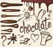 Insieme dei brushs del cioccolato Fotografia Stock Libera da Diritti