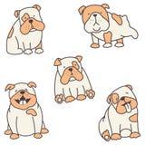 Insieme dei bulldog royalty illustrazione gratis