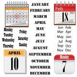 Insieme dei calendari. Immagine Stock