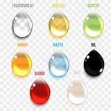Insieme dei cali trasparenti nei colori grigi Trasparenza soltanto in VE illustrazione di stock