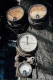 Insieme dei calibri rotti - Black Leaf Chemical Company - Louisville, Kentucky fotografie stock