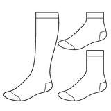 Insieme dei calzini in bianco Fotografie Stock