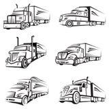 Insieme dei camion Fotografia Stock Libera da Diritti