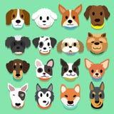 Insieme dei cani del fumetto Immagine Stock Libera da Diritti
