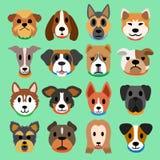 Insieme dei cani del fumetto Fotografia Stock