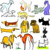 Insieme dei cani e di più di giocattolo Immagine Stock Libera da Diritti