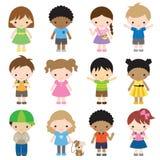 Insieme dei caratteri del bambino Fotografia Stock Libera da Diritti