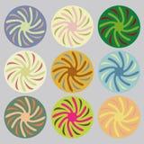 Insieme dei cerchi colorati Immagini Stock Libere da Diritti