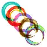 Insieme dei cerchi dell'acquerello Fotografia Stock Libera da Diritti