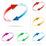 Insieme dei cerchi della freccia illustrazione di stock