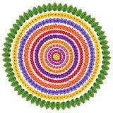 Insieme dei cerchi floreali astratti Immagini Stock Libere da Diritti