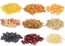 Insieme dei cereali diversi Fotografia Stock Libera da Diritti