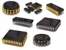 Insieme dei chip di computer Immagini Stock Libere da Diritti