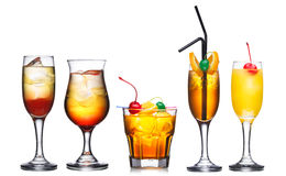 Insieme dei cocktail immagini stock