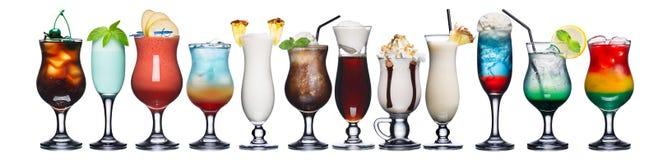 Insieme dei cocktail di estate Immagine Stock Libera da Diritti