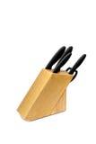 Insieme dei coltelli isolati Fotografia Stock