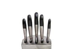 Insieme dei coltelli isolati Immagini Stock Libere da Diritti