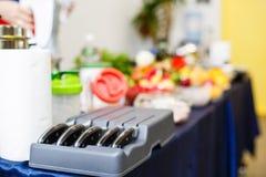 Insieme dei coltelli nella cucina Immagine Stock Libera da Diritti