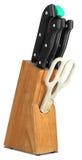 Insieme dei coltelli per la cucina Immagine Stock Libera da Diritti