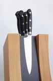 Insieme dei coltelli per la cucina Fotografia Stock Libera da Diritti