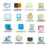 Insieme dei computer del logos di vettore Fotografia Stock