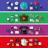 Insieme dei concetti di affari e di web Progettazione piana Fotografie Stock Libere da Diritti