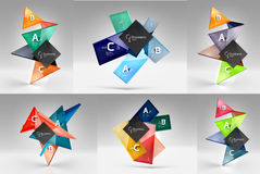 Insieme dei concetti geometrici moderni, elementi di progettazione Fotografie Stock