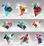 Insieme dei concetti geometrici moderni, elementi di progettazione Immagine Stock Libera da Diritti