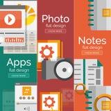 Insieme dei concetti piani di mobilità di progettazione Immagine Stock