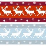 Insieme dei confini d'annata di Natale Immagine Stock Libera da Diritti