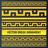Insieme dei confini dorati antichi graduati differenti illustrazione vettoriale