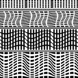 Insieme dei confini geometrici senza cuciture illustrazione vettoriale