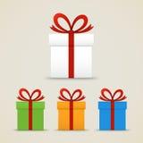 Insieme dei contenitori di regalo illustrazione vettoriale