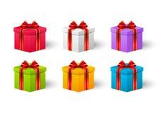 Insieme dei contenitori di regalo Immagine Stock