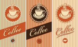 Insieme dei contrassegni per caffè Immagini Stock Libere da Diritti
