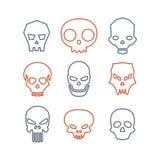 Insieme dei crani Fotografie Stock
