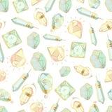 Insieme dei cristalli di vettore illustrazione vettoriale