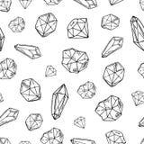 Insieme dei cristalli di vettore illustrazione di stock