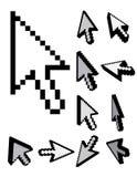 Insieme dei cursori del pixel 3d Immagine Stock