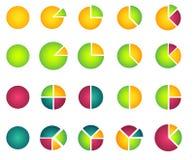 Insieme dei 2D grafici a settori Immagini Stock Libere da Diritti