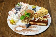 Insieme dei dessert Fotografia Stock Libera da Diritti