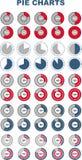 Insieme dei diagrammi a torta colorati Elementi di Infographic Fotografie Stock Libere da Diritti