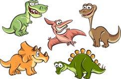 Insieme dei dinosauri del fumetto Immagine Stock
