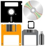 Insieme dei dischi del calcolatore illustrazione di stock